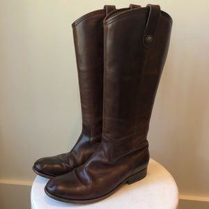 Frye dark brown riding boots size 8.5